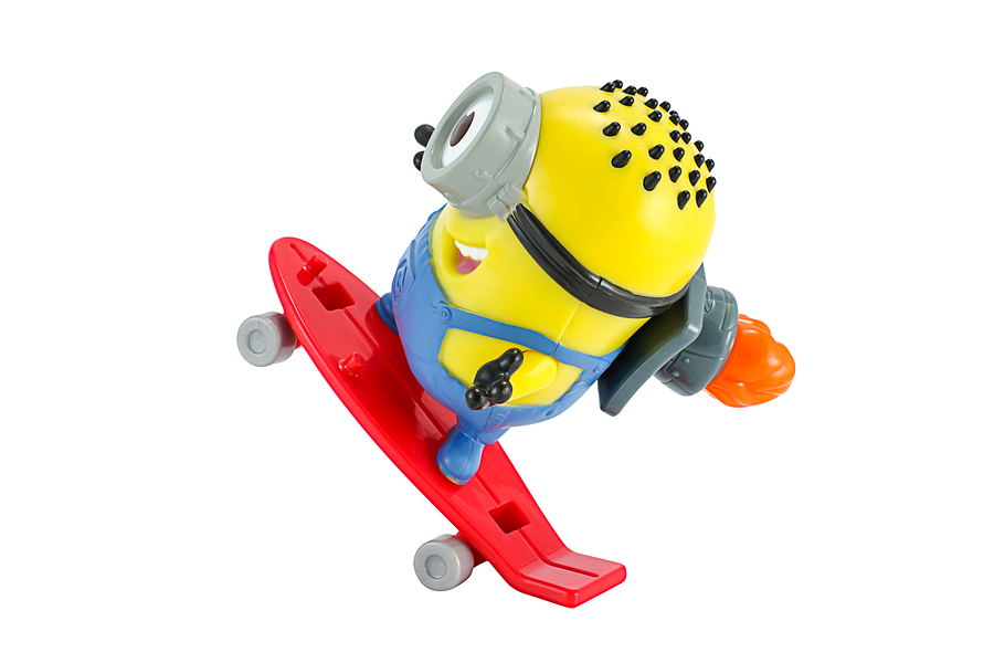 arl rocket Minion toy character from Despicable Me animation mov